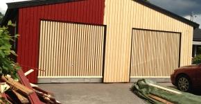 Fasad byte garage åsavägen saltsjö-boo nacka